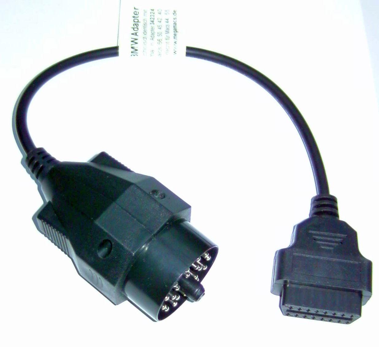 gutmann adapter 342324 mega macs obd2 adapter bmw 16pol. Black Bedroom Furniture Sets. Home Design Ideas